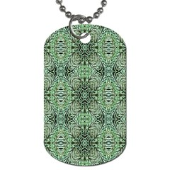 Seamless Abstraction Wallpaper Digital Computer Graphic Dog Tag (one Side)