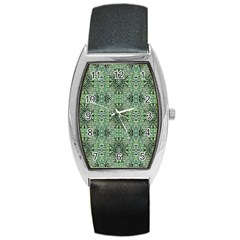 Seamless Abstraction Wallpaper Digital Computer Graphic Barrel Style Metal Watch