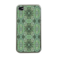 Seamless Abstraction Wallpaper Digital Computer Graphic Apple Iphone 4 Case (clear)