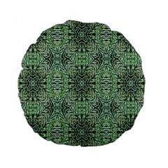 Seamless Abstraction Wallpaper Digital Computer Graphic Standard 15  Premium Round Cushions