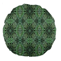Seamless Abstraction Wallpaper Digital Computer Graphic Large 18  Premium Round Cushions