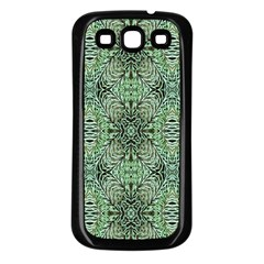Seamless Abstraction Wallpaper Digital Computer Graphic Samsung Galaxy S3 Back Case (Black)