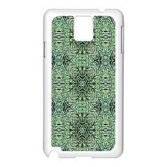 Seamless Abstraction Wallpaper Digital Computer Graphic Samsung Galaxy Note 3 N9005 Case (White)