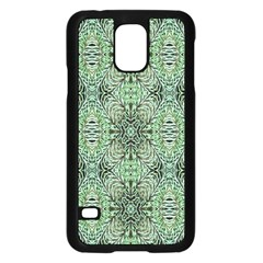 Seamless Abstraction Wallpaper Digital Computer Graphic Samsung Galaxy S5 Case (Black)
