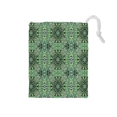 Seamless Abstraction Wallpaper Digital Computer Graphic Drawstring Pouches (Medium)