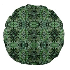 Seamless Abstraction Wallpaper Digital Computer Graphic Large 18  Premium Flano Round Cushions
