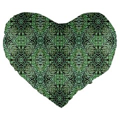 Seamless Abstraction Wallpaper Digital Computer Graphic Large 19  Premium Flano Heart Shape Cushions