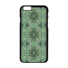 Seamless Abstraction Wallpaper Digital Computer Graphic Apple Iphone 6/6s Black Enamel Case