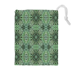 Seamless Abstraction Wallpaper Digital Computer Graphic Drawstring Pouches (Extra Large)