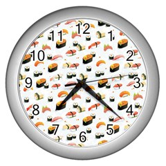 Sushi Lover Wall Clocks (silver)
