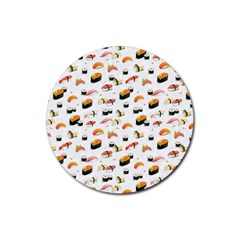 Sushi Lover Rubber Round Coaster (4 pack)