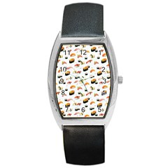 Sushi Lover Barrel Style Metal Watch