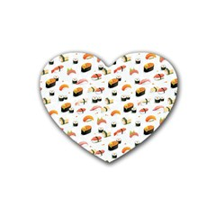 Sushi Lover Rubber Coaster (heart)
