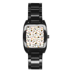 Sushi Lover Stainless Steel Barrel Watch