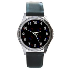 Tranquil Abstract Pattern Round Metal Watch