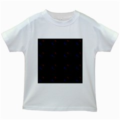 Tranquil Abstract Pattern Kids White T-Shirts
