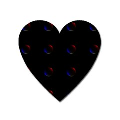 Tranquil Abstract Pattern Heart Magnet