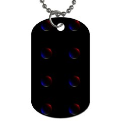 Tranquil Abstract Pattern Dog Tag (One Side)