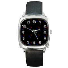 Tranquil Abstract Pattern Square Metal Watch