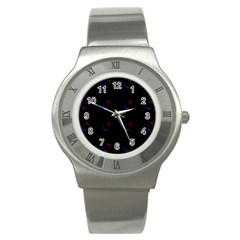 Tranquil Abstract Pattern Stainless Steel Watch