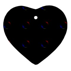 Tranquil Abstract Pattern Heart Ornament (Two Sides)