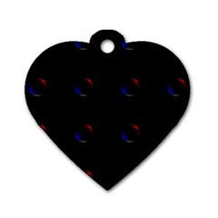 Tranquil Abstract Pattern Dog Tag Heart (One Side)