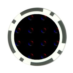 Tranquil Abstract Pattern Poker Chip Card Guard