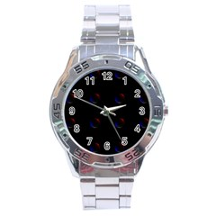 Tranquil Abstract Pattern Stainless Steel Analogue Watch