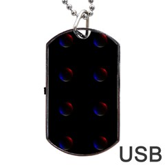 Tranquil Abstract Pattern Dog Tag USB Flash (One Side)