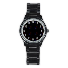 Tranquil Abstract Pattern Stainless Steel Round Watch