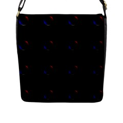 Tranquil Abstract Pattern Flap Messenger Bag (L)