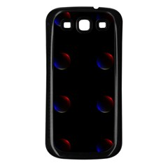 Tranquil Abstract Pattern Samsung Galaxy S3 Back Case (Black)