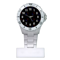 Tranquil Abstract Pattern Plastic Nurses Watch