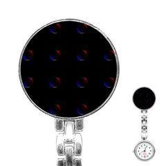Tranquil Abstract Pattern Stainless Steel Nurses Watch