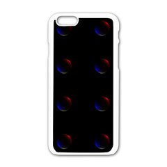 Tranquil Abstract Pattern Apple Iphone 6/6s White Enamel Case