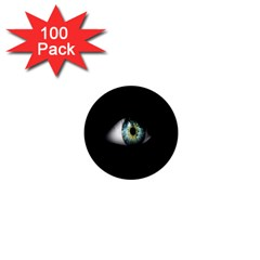 Eye On The Black Background 1  Mini Buttons (100 Pack)