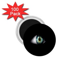 Eye On The Black Background 1 75  Magnets (100 Pack)