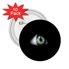 Eye On The Black Background 2 25  Buttons (10 Pack)