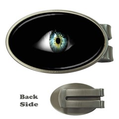 Eye On The Black Background Money Clips (oval)