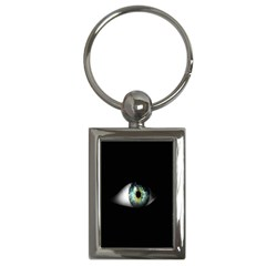Eye On The Black Background Key Chains (rectangle)