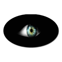 Eye On The Black Background Oval Magnet