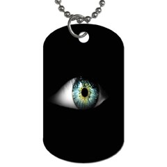 Eye On The Black Background Dog Tag (one Side)
