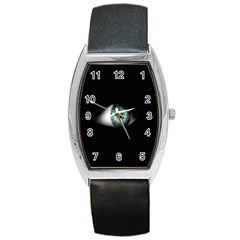Eye On The Black Background Barrel Style Metal Watch