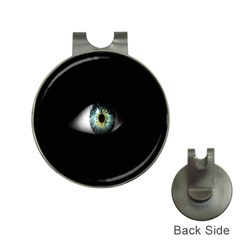 Eye On The Black Background Hat Clips with Golf Markers