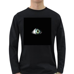 Eye On The Black Background Long Sleeve Dark T-Shirts