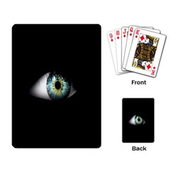 Eye On The Black Background Playing Card
