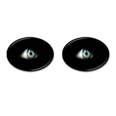 Eye On The Black Background Cufflinks (oval)
