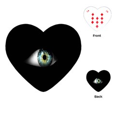 Eye On The Black Background Playing Cards (Heart)