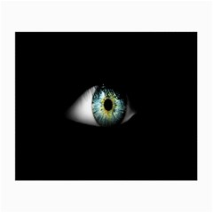 Eye On The Black Background Small Glasses Cloth (2-Side)