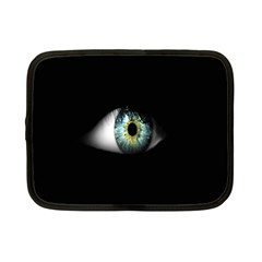 Eye On The Black Background Netbook Case (Small)